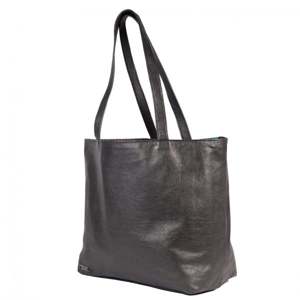 Reversible Bag turqoise leather